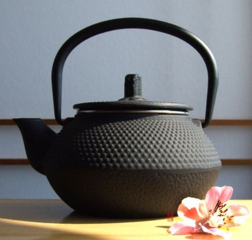 Small Tetsubin Cast Iron black hobnail tea pot Japanese style 0.3 litre - GOTO